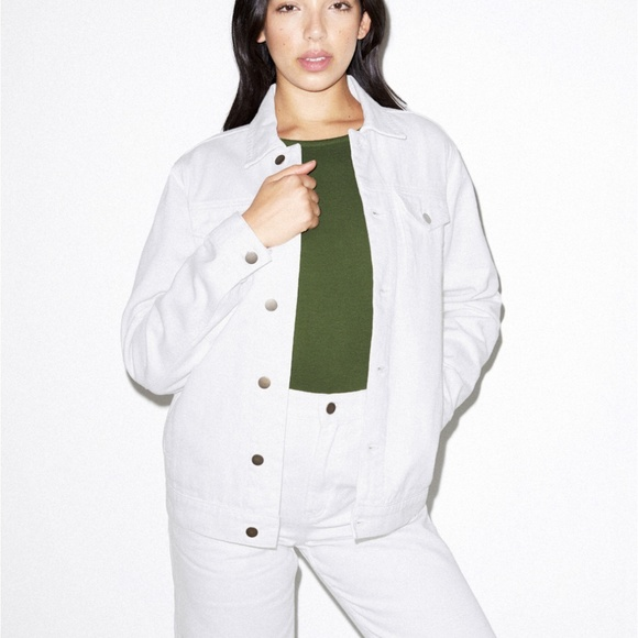 American Apparel Jackets & Blazers - American Apparel White Denim Jacket